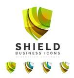 Sistema de conceptos del logotipo del escudo de la protección Fotos de archivo