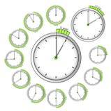 Sistema de contadores de tiempo del vector Fotos de archivo libres de regalías