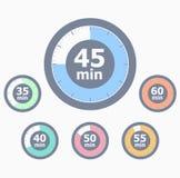 Sistema de contadores de tiempo. En segundo lugar Foto de archivo libre de regalías