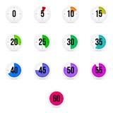Sistema de contadores de tiempo simples ilustración del vector