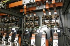 Sistema de control eléctrico en fábrica Foto de archivo libre de regalías