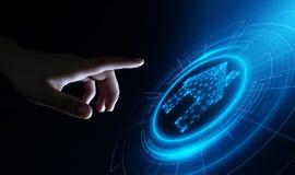 Sistema de control elegante de la automatización casera Concepto del Internet de la tecnología de la innovación imagenes de archivo