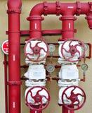 Sistema de controlo da válvula do incêndio para edifícios Fotografia de Stock Royalty Free