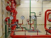 Sistema de controlo do sistema de extinção de incêndios do incêndio Imagens de Stock Royalty Free
