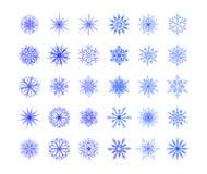 sistema de copos de nieve imagenes de archivo