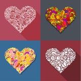 Sistema de corazón de la decoración Fotografía de archivo