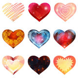 Sistema de corazones Fotos de archivo libres de regalías