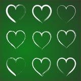 Sistema de corazones Foto de archivo