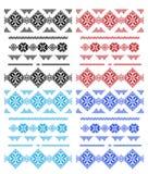 Sistema de cordones aislados sobre blanco Foto de archivo libre de regalías
