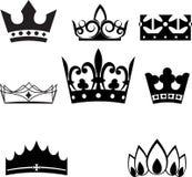 Sistema de coronas y de tiaras Fotos de archivo
