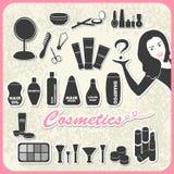 Sistema de cosméticos Fotografía de archivo