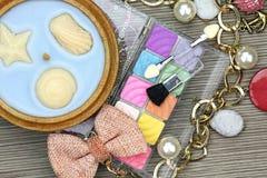 Sistema de cosméticos coloridos Imagenes de archivo