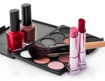 Sistema de cosméticos femeninos Imagen de archivo libre de regalías
