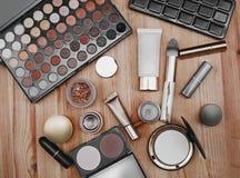Sistema de cosméticos profesionales Foto de archivo libre de regalías