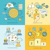 Sistema de crear ejemplos del vector del concepto de las ideas stock de ilustración