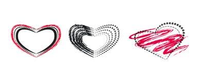 Sistema de creatividad de los corazones Fotografía de archivo libre de regalías
