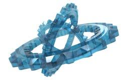 Sistema de cristal de la rueda dentada Imagen de archivo libre de regalías