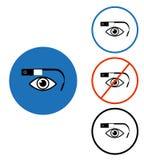 Sistema de cristal del icono de Google ilustración del vector