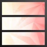 Sistema de Crystal Banners abstracto Fotografía de archivo