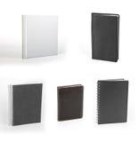 Sistema de cuadernos aislados en el fondo blanco Imagen de archivo libre de regalías