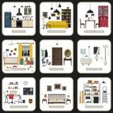 Sistema de cuartos interiores Foto de archivo libre de regalías