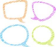Sistema de cuatro burbujas coloridas del discurso Fotografía de archivo libre de regalías