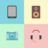 Sistema de cuatro dispositivos portátiles Fotos de archivo