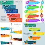 Sistema de cuatro elementos del diseño infographic Foto de archivo libre de regalías