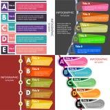 Sistema de cuatro elementos del diseño infographic Fotografía de archivo libre de regalías