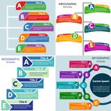 Sistema de cuatro elementos del diseño infographic Imagen de archivo libre de regalías