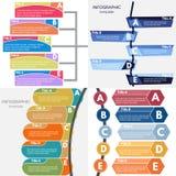 Sistema de cuatro elementos del diseño infographic Fotos de archivo libres de regalías