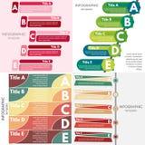 Sistema de cuatro elementos del diseño infographic Plantilla infographic gradual del diseño Imagen de archivo libre de regalías