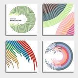 Sistema de cuatro fondos abstractos hermosos Círculos ligeros de destello abstractos Fotografía de archivo libre de regalías