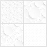 Sistema de cuatro fondos blancos inconsútiles Foto de archivo libre de regalías