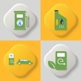 Sistema de cuatro iconos Foto de archivo libre de regalías