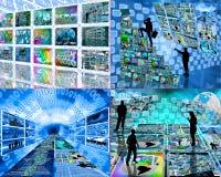 Sistema de cuatro imágenes stock de ilustración
