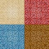 Sistema de cuatro modelos abstractos inconsútiles coloridos con pendiente Foto de archivo