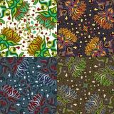 Sistema de cuatro modelos inconsútiles coloridos. EPS-8. Imagen de archivo