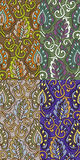 Sistema de cuatro modelos inconsútiles coloridos EPS-8 Fotos de archivo libres de regalías