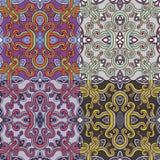 Sistema de cuatro modelos inconsútiles coloridos EPS-8 Foto de archivo libre de regalías