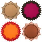 Sistema de cuatro rayas de cuero Fotos de archivo