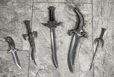 Sistema de cuchillos de la guerra foto de archivo