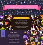 Sistema de cuentos de hadas y de magia del diseño plano moderno libre illustration