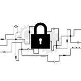 Sistema de Cybersecurity, conceito da proteção do Internet Fotografia de Stock Royalty Free