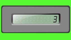 Sistema de dígitos en la calculadora de la multiplicación en un fondo verde stock de ilustración
