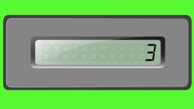 Sistema de dígitos en la calculadora de la multiplicación en un fondo verde almacen de video