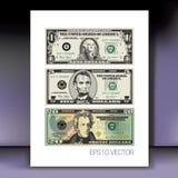Sistema de dólares americanos stock de ilustración