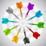 Sistema de dardos Concepto del juego del color del vector libre illustration