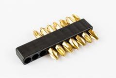 Sistema de destornillador de cobre amarillo Head Foto de archivo libre de regalías