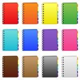 Sistema de diarys coloreados Imagen de archivo libre de regalías